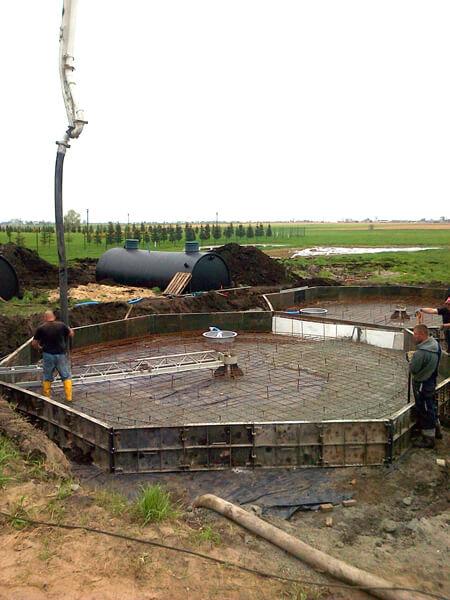 oczyszczalnia ścieków - etap budowy